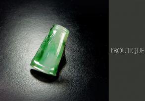 ミャンマー産天然無処理翡翠 竹 吉祥 ペンダント 手石 インテリア ホワイト 明緑 濃緑