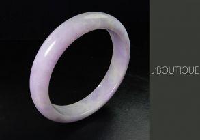 ミャンマー産天然無処理翡翠 バングル ブレスレット ラベンダー 薄紫