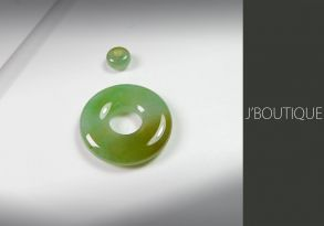 ミャンマー産天然無処理翡翠 玉環 ビーズ セット ペンダント 手石 インテリア 薄緑 黄緑 薄明緑 冰