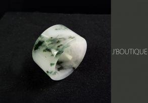 ミャンマー産天然無処理翡翠 指板 リング 指輪 ペンダント ホワイト 濃緑 冰