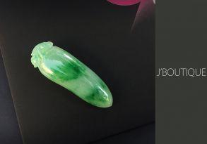 ミャンマー産天然無処理翡翠 福瓜 吉祥 ペンダント 手石 インテリア 薄緑 濃緑 冰