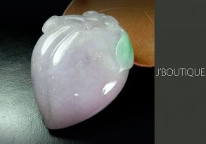 ミャンマー産天然無処理翡翠 桃 オーナメント 手石 インテリア 薄ラベンダー 薄緑 オフホワイト