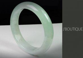 ミャンマー産天然無処理翡翠 バングル ブレスレット 淡緑 冰