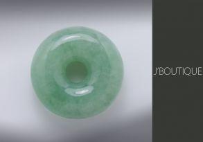 ミャンマー産天然無処理翡翠 玉環 ペンダント 手石 インテリア 薄青緑 冰