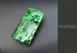 ミャンマー産天然無処理翡翠 ドラゴン 吉祥 オーナメント 手石 ペンダント 艶緑